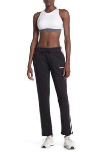adidas-Essentials-Women-039-s-3-Stripes-Fleece-Pants-Black-White-X-Small