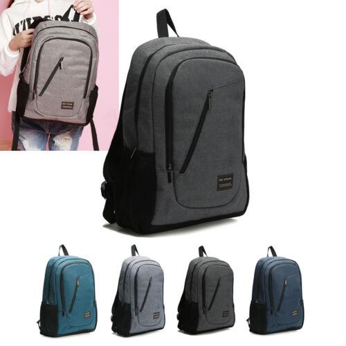 Men Women Fashion Canvas School Bag Backpack Rucksack Camping Travel Satchel Bag