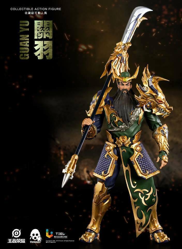 1 12 3A Threezero Guan Yu Gloria de los Reyes Acción Figura Modelo De Regalo