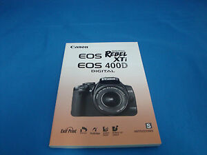canon 400d instruction manual