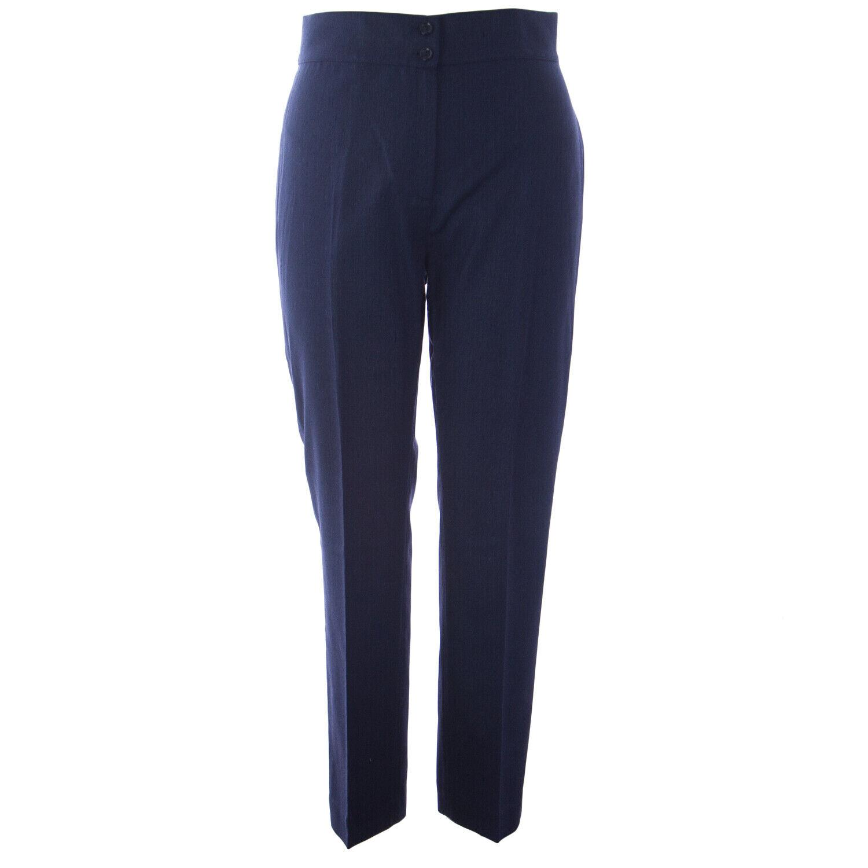 MARINA RINALDI Women's Navy Rimini High Waisted Trousers  625 NWT