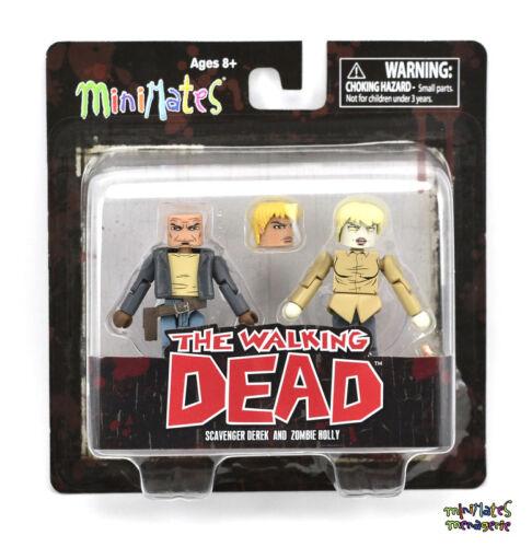 Walking Dead Minimates Series 7 Zombie Holly /& Scavenger Derek Variant