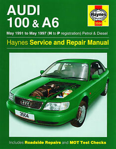 haynes audi 100 a6 may 1991 may 1997 h to p registration petrol rh ebay co uk 2000 Audi 100 Used 1991 Audi 100 Quattro