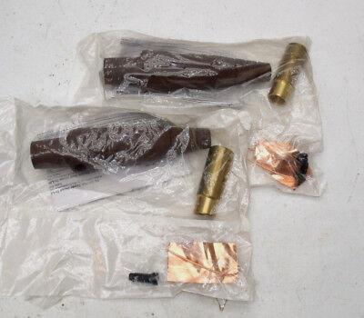 Leviton Brown 16 Series Male Detachable Cam-Type Plug 600A 600V Crimped 16D32-H