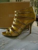 Michael Kors High Heels Leder Gold Sandaletten US 8 = EUR 38,5 im Originalkarton