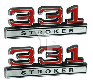 Emblem Stroker Chrome Small Font