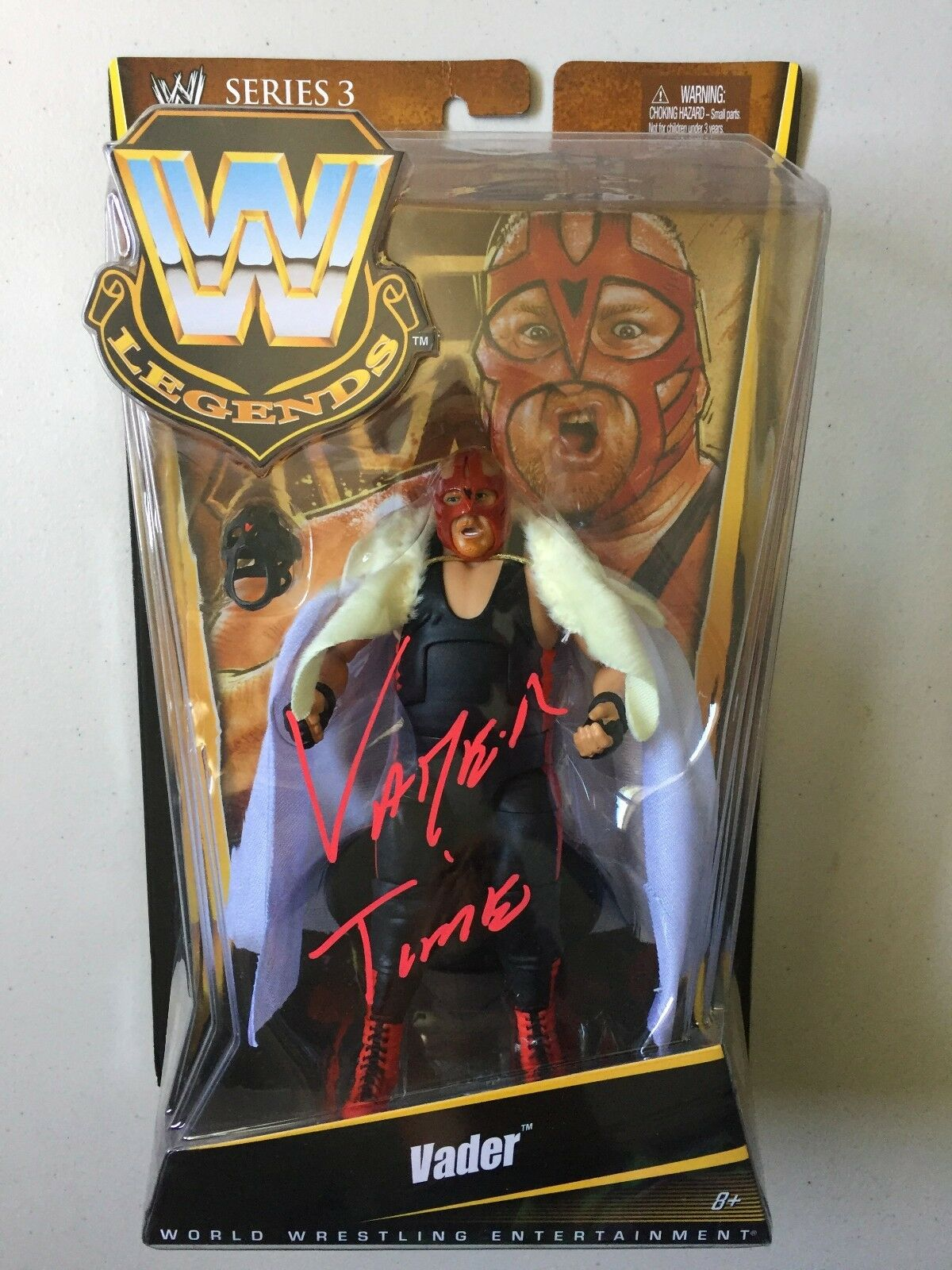 WWE Mattel Elite Legends VADER Autographed Signed Wrestling Figure WCW WWF