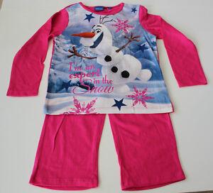 Vetements-de-nuit-Lot-pyjamas-Fille-Disney-Reine-des-Neiges-Rose-104-110-116-128