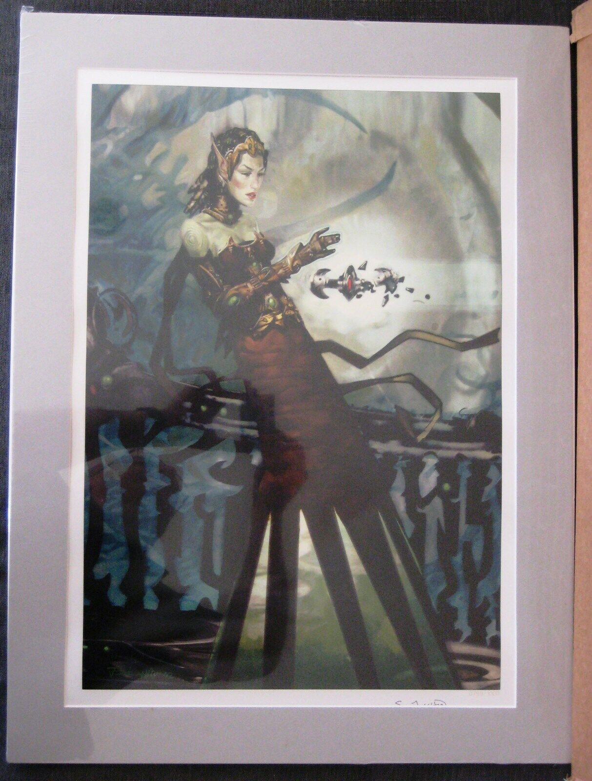 Magic Collection mtg verde Wizard Art Printing   1000 - New and sellated