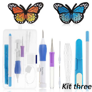 Magic-Embroidery-Pen-Set-Needle-Craft-Punch-Tool-Weaving-Clothing-Sewing