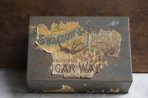 Vintage-SWALLOW-amp-ARIELL-Waffers-Biscuit-TIN-Australia-Melbourne-Advertising