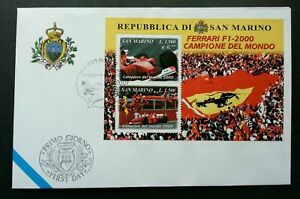 SJ-San-Marino-Ferrari-2001-Car-Racing-Sport-Games-miniature-FDC