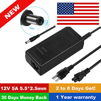 12V 5A AC Adapter For Insignia NS-32D220NA16 NS-32DD220NA16 LED TV Power Supply