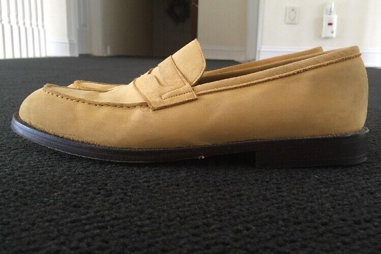 risposte rapide Uomo giallo Vintage Leather Loafers GIRAUDON NEW YORK Sz 41.5 41.5 41.5 Nubuck Portugal  autorizzazione ufficiale