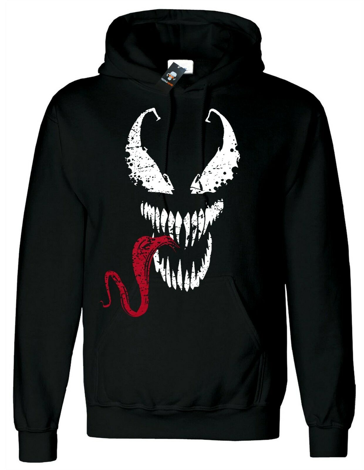 Spiderman Hoody Venom Face Tongue Marvel DC Deadpool Gym Xmas Gift Hoodie Hood