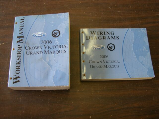 Oem Ford 2006 Crown Victoria Shop Manuals Books Wiring