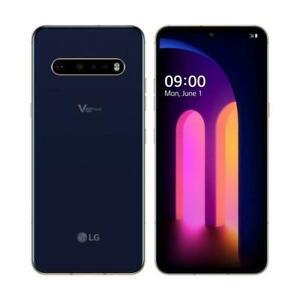 Unlocked-LG-V60-ThinQ-5G-LMV600AM-AT-amp-T-128GB-Classy-Blue-Phone