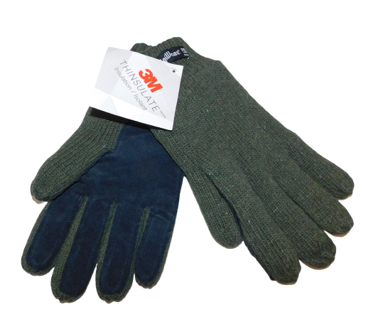 RefrigiWear 3M Thinsulate Mens Gloves Ragg Wool/Leather Large New