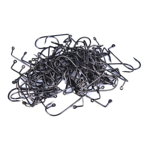 Details about  /100pcs Fishhook 90 Degree Jig Hooks Carbon Steel Round Bent Hook Size 1# TY yr