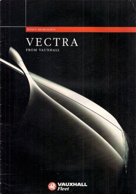 Vauxhall Vectra Mk1 1995-96 UK Market Fleet Launch 16pp Sales Brochure 4-dr 5-dr