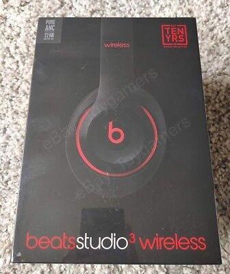 Beats By Dre Studio 3 Wireless Headphones Decade Collection Defiant Black Red Ebay