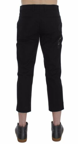 W38 IT52 NWT $560 DOLCE /& GABBANA Pants Black Brown 3//4 Length Khakis Mens s