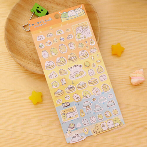 Cute Scrapbooking Corner Creature Planner Stickers Label Diary DIY Decoration