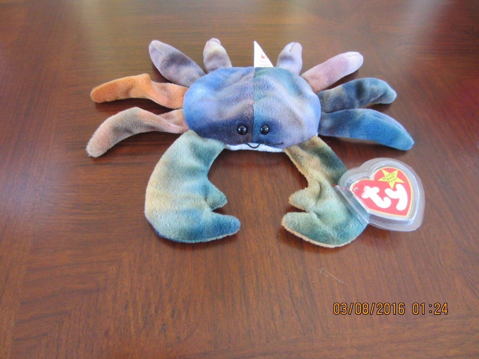 Beanie Babies -Retired -Claude the Crab