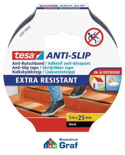in transparent und schwarz erhältlich tesa Anti-Rutschband 5 m x 25 mm #870