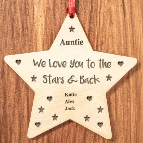 Regalos personalizados para su tía abuela Mum Nana abuela Decoración de Navidad de S6