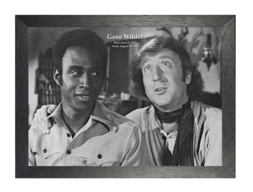 Gene Wilder 7 Tribute Blazing Saddles Black /& White Photo Actor Picture Poster