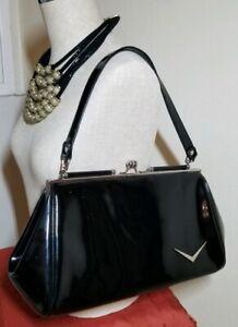 Lux de Ville Miss Lux Wallet Black Matte classic sleek retro