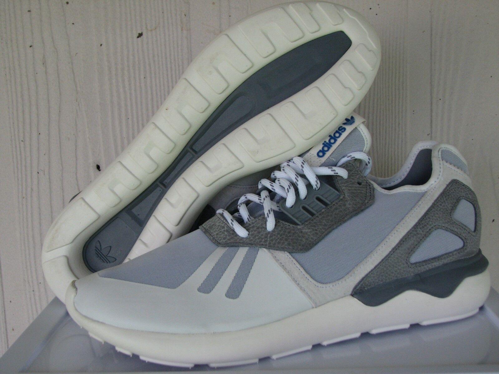 Men's Adidas Originals Tubular White Grey Runner Athletic Casual shoes M19645
