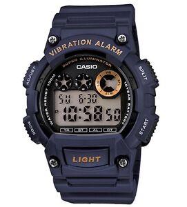 Casio Classic Watch * W735H-2AV Digital Vibration Alarm Navy Blue COD PayPal