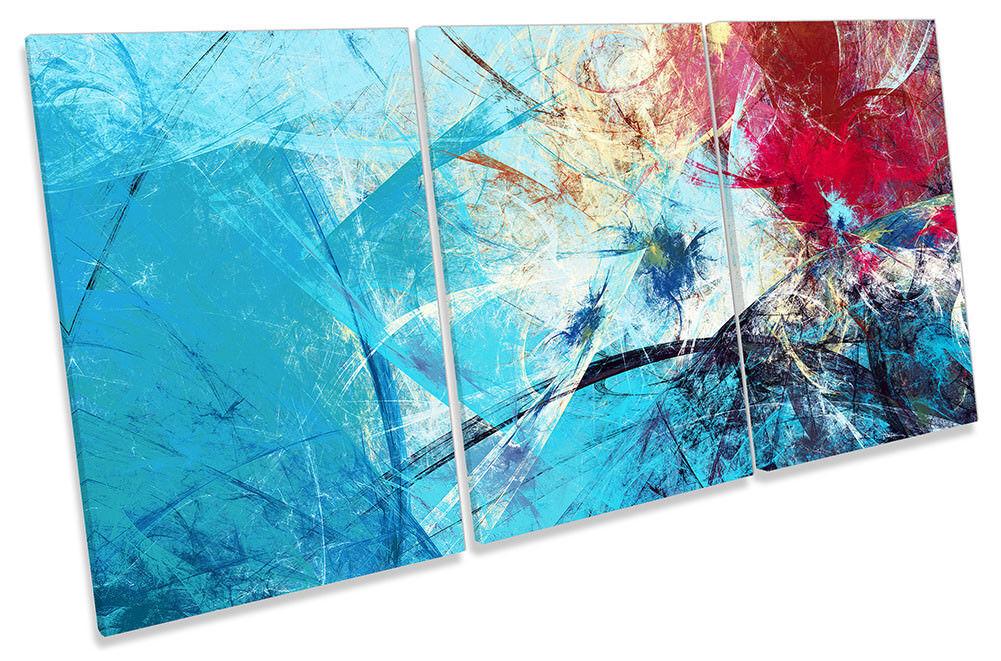 Lienzo Enmarcado Grunge Azul Rojo Abstracto Impresión de Arte de agudos la pared de agudos de 66ab49