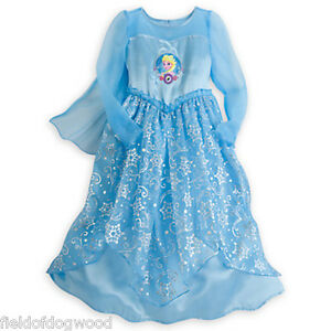 aba318af5a Image is loading NWT-Disney-Store-Princess-ELSA-Deluxe-Nightgown-costume-