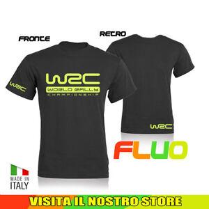 T-SHIRT-MAGLIA-WRC-RALLY-AUTO-MOTO-TUNING-WORLD-IDEA-REGALO-FLUO-UOMO-DONNA