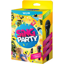 Nintendo Wupraswe Sing Party Wii U With Microphone Nr