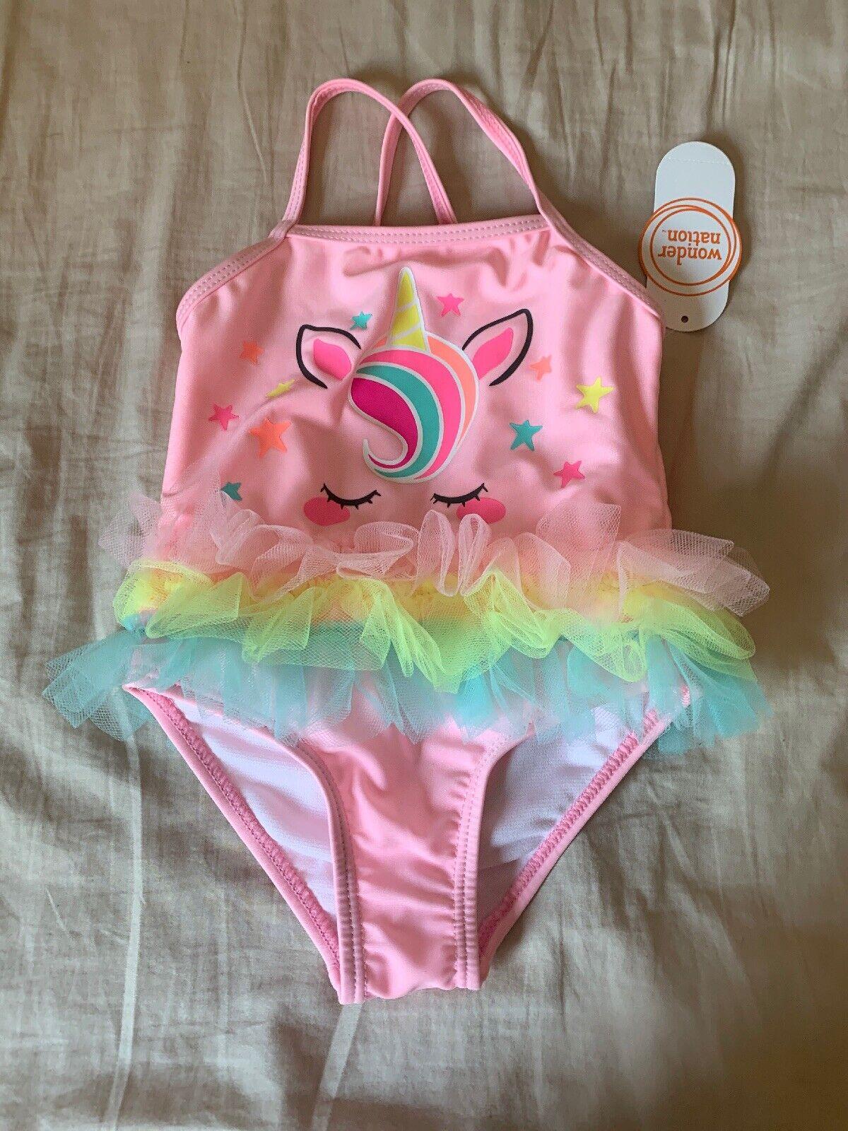 BRAND NEW W TAGS CUTE Infant Girls Unicorn Tutu Swimsuit Size 6-9 M