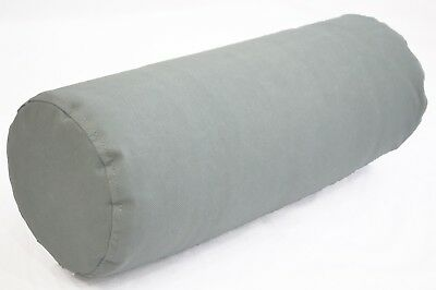 PL13g Grey Water Proof Outdoor*BOLSTER COVER*Long Tube Yoga Neck Roll CASE
