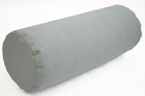 PL15g Ash Grey Water Proof Outdoor*BOLSTER COVER*Long Tube Yoga Neck Roll CASE