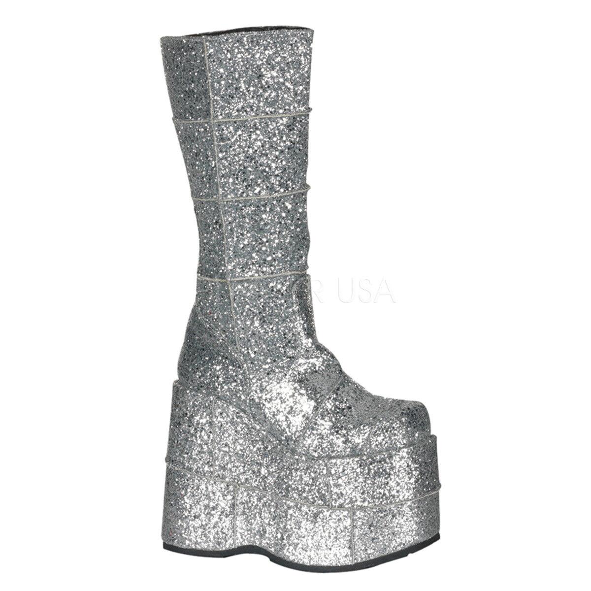 Demonia MEN'S Silver Glitter 7