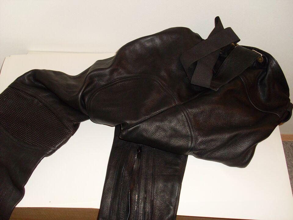 læder bukser str 48 , held