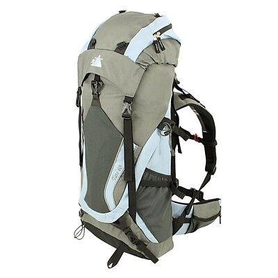10T Tate 60 - Mochila de trekking, excursionista, 60 litros, bolsillos funcional