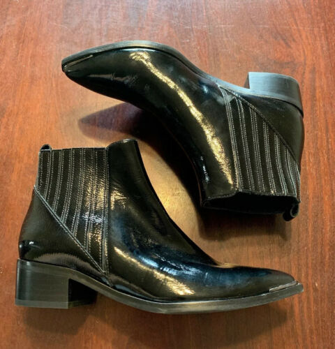 Marc Fisher LTD Womens Patent Leather Boots Size 6
