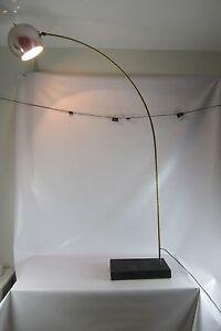 VINTAGE MID CENTURY MODERN ARC ORB EYEBALL FLOOR LAMP CHROME BRASS ...