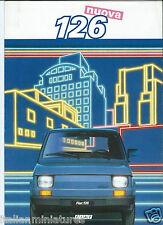 Fiat 126 Nuova 1985 Italian Language Brochure Prospekt Catalog Excellent
