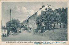Ak, Gruß aus dem Restaurant zum Bahnhof, Deutschneudorf, (G)(0585)