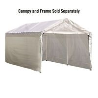 ShelterLogic Max AP 10 ft. x 20 ft. White Canopy Enclosure Kit, Fits 1-3/8 in. Frame 25775 (677599257759) Garden
