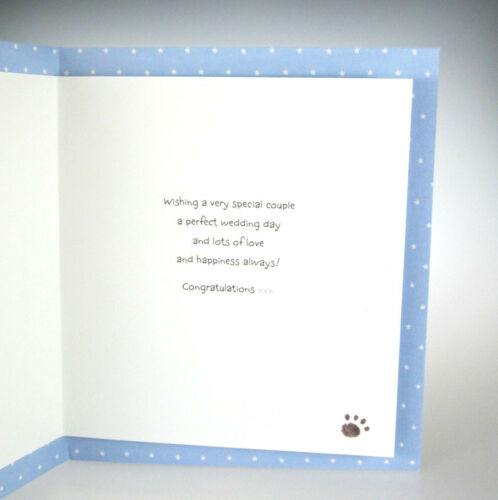 CUTE card! Wedding Day Wishes to a Lovely Granddaughter and Her New Husband..